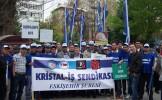 """Eskişehir'de """"Güvencesiz Çalışmaya, Taşeronlaştırmaya Karşı"""" kitlesel basın açıklaması yap..."""