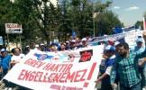 Cam İşçisi Ankara'da Haykırdı: Grev Haktır, Engellenemez!