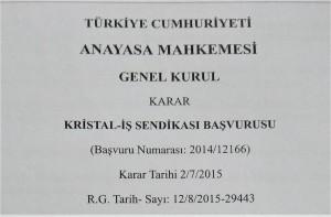 2015 Anayasa Mahkemesi.