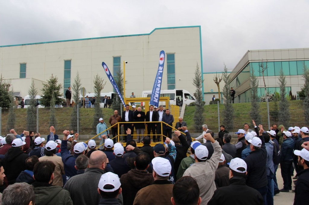 Protest in front of the factory 2