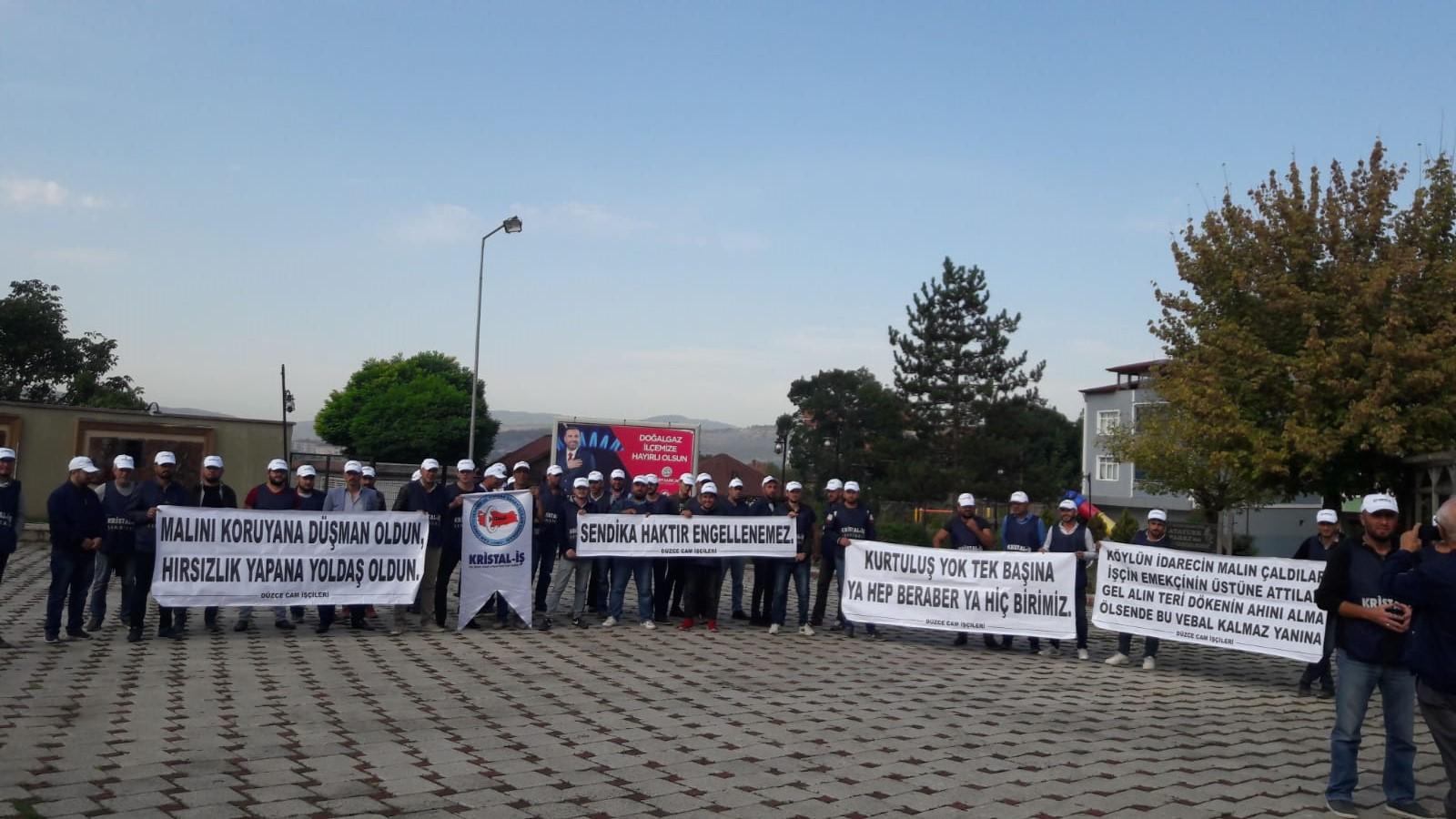 Cam işçileri direnişe devam ediyor